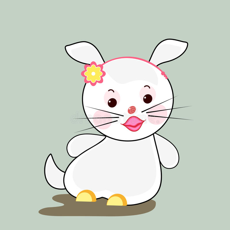 Lapin blanc illustration stock