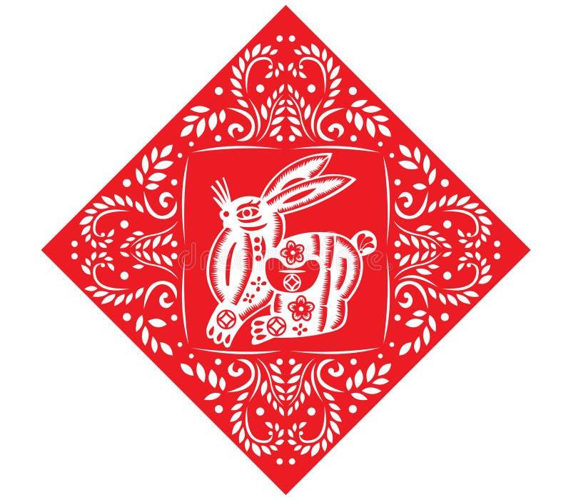 Lapin chinois d'an neuf illustration de vecteur