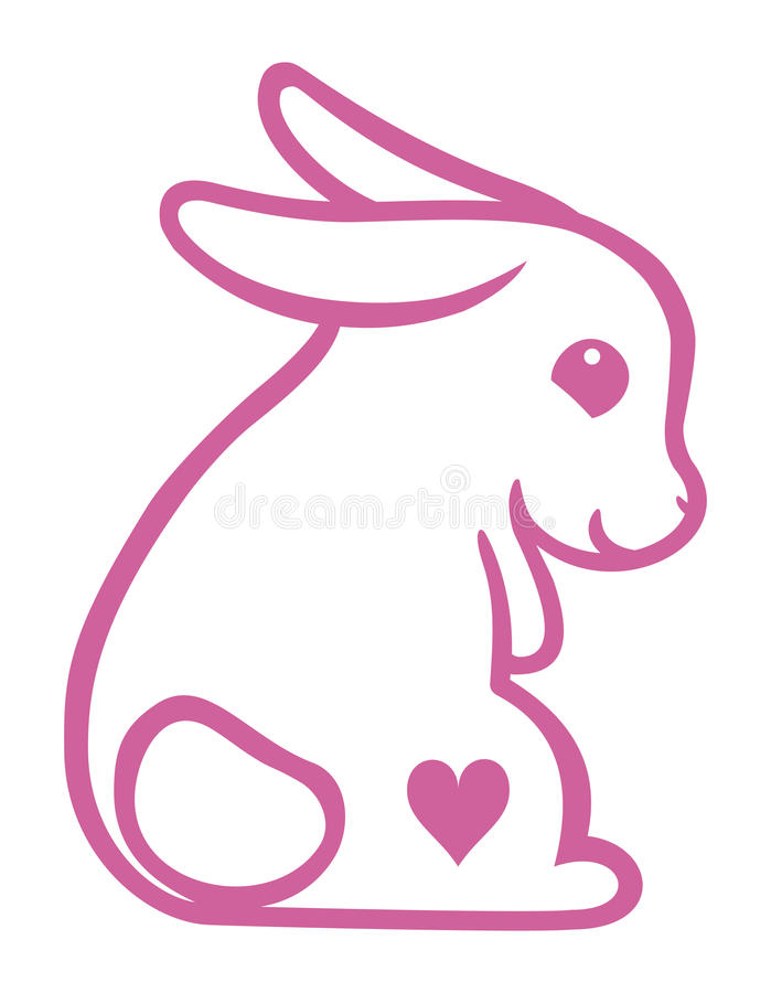 Lapin d'amour photos stock