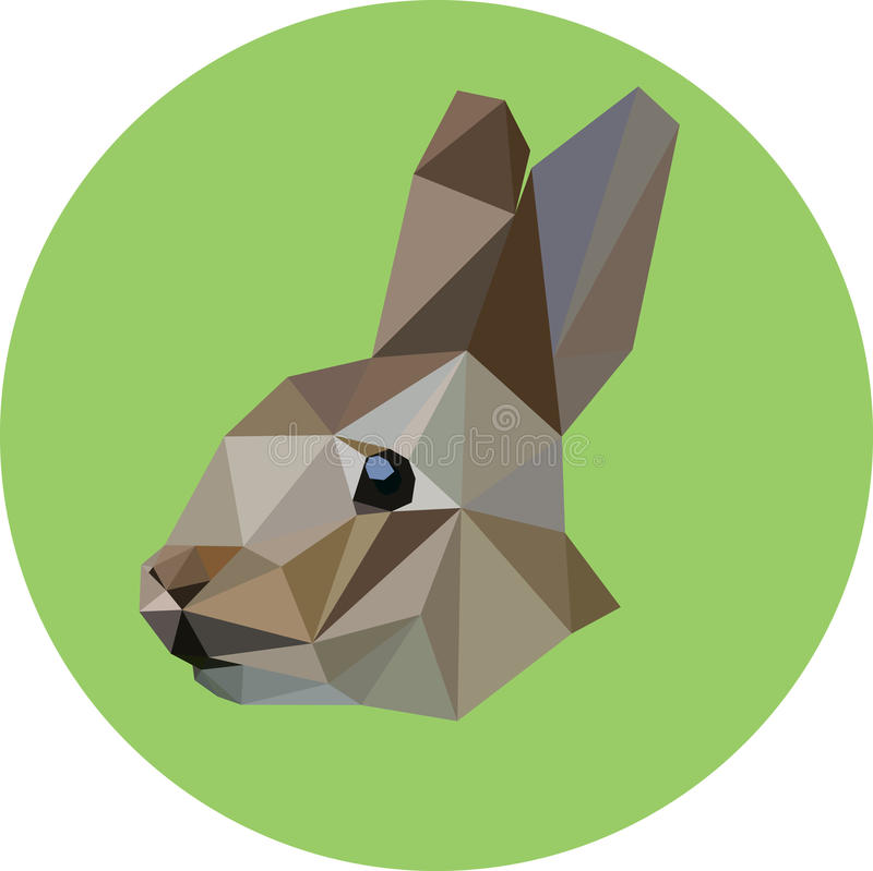 Lapin dans le style du polygone Illustration de mode de illustration de vecteur