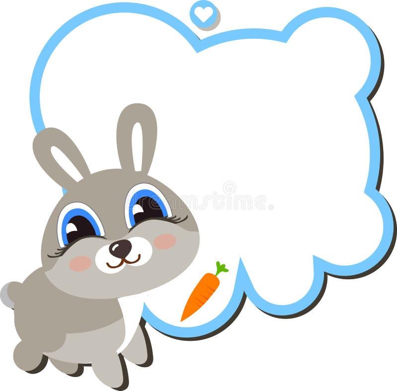 Lapin de bébé avec une carotte illustration libre de droits