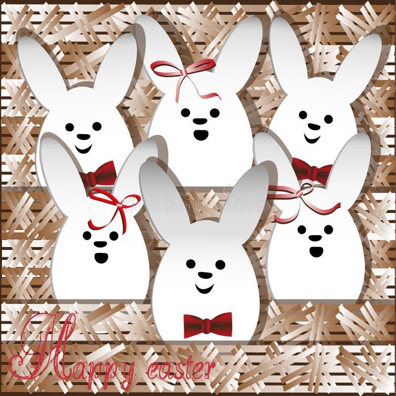 Lapin de blanc de Noël de choeur illustration stock