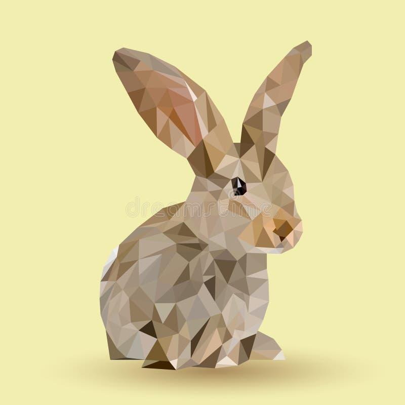 Lapin de Pâques avec des triangles photos stock