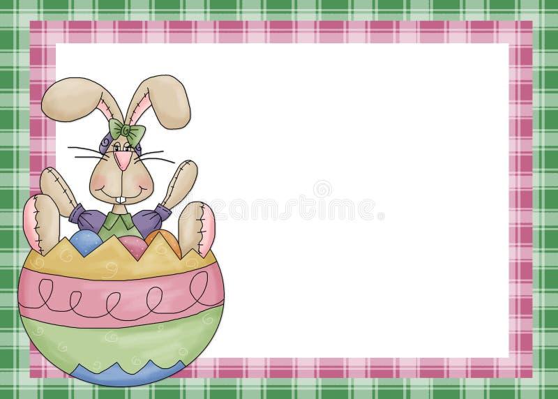 Lapin de Pâques avec le fond d'oeufs illustration de vecteur