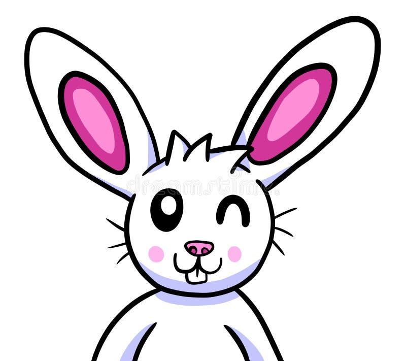 Lapin de Pâques clignotant adorable heureux illustration libre de droits