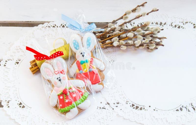 Lapin de Pâques de biscuit photo stock