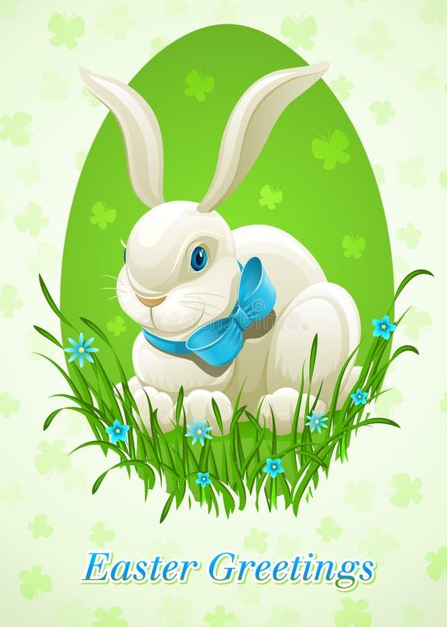 Lapin de Pâques en oeuf illustration de vecteur