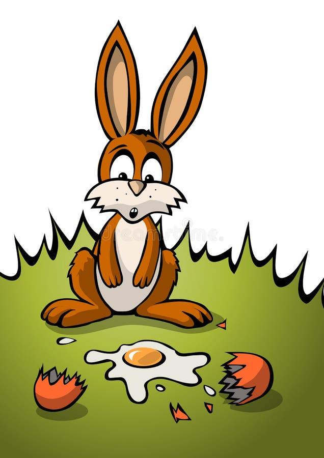 Lapin de Pâques maladroit illustration stock