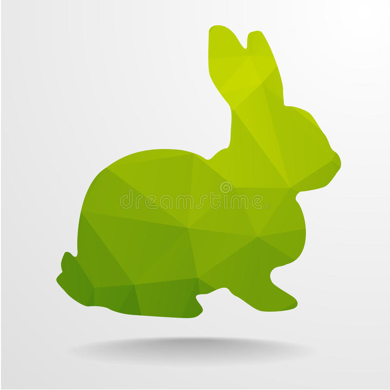 Lapin de polygone illustration stock