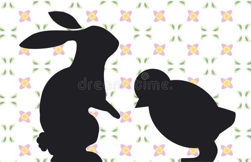 Lapin et nana illustration stock