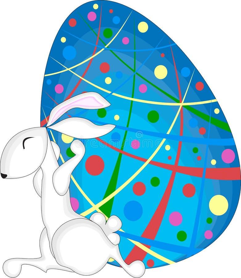 Lapin et oeuf de pâques illustration de vecteur