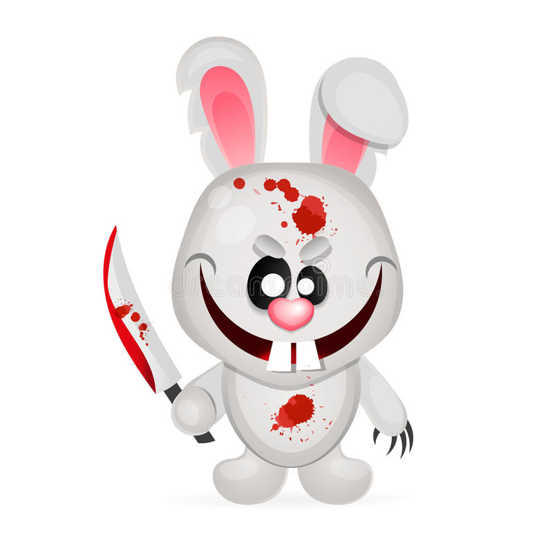 Lapin fou Halloween illustration stock