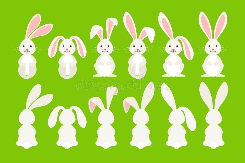 Lapin mignon de bande dessinée de Pâques illustration de vecteur