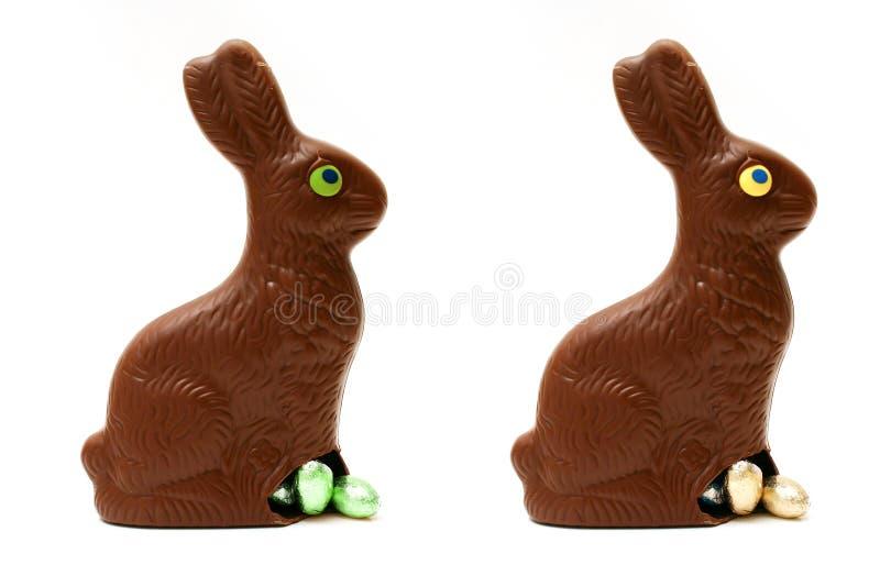 Lapins de chocolat de Pâques photo stock