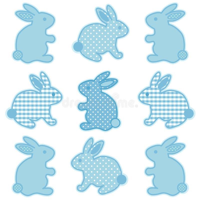 Lapins de lapin de chéri illustration stock
