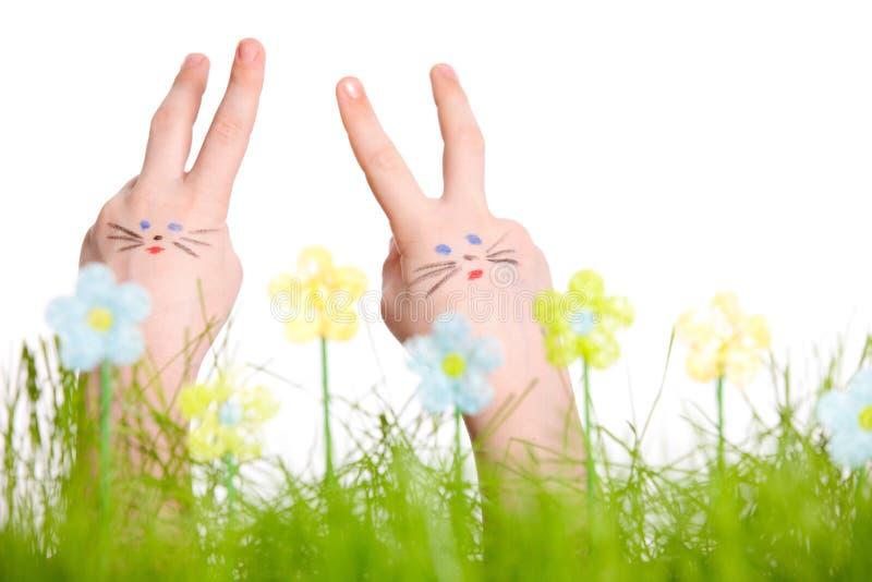 Lapins de Pâques image stock