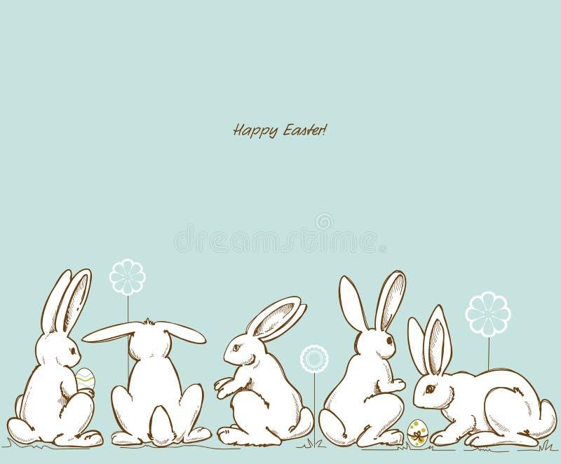 Lapins de Pâques illustration stock