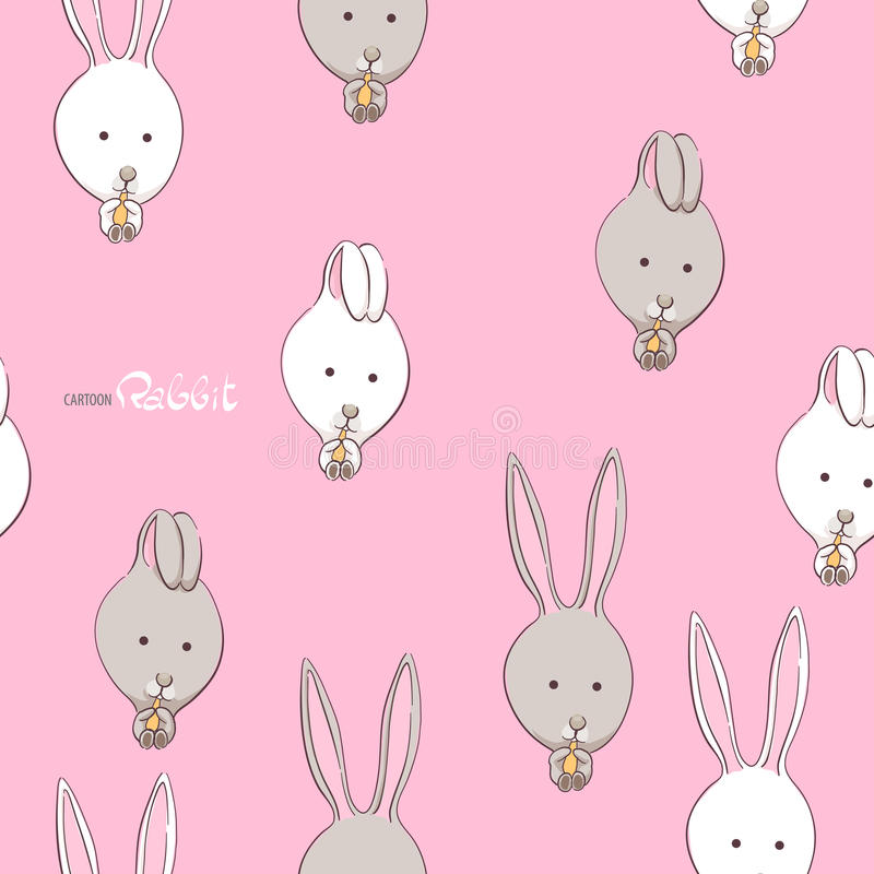 Lapins drôles mignons illustration stock