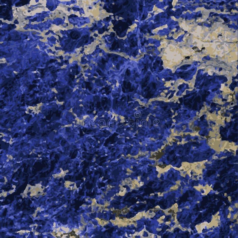 Lapis lazuli stock illustratie