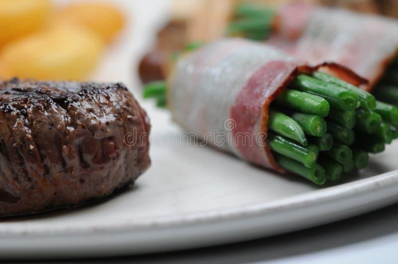 Lapje vlees en groenten royalty-vrije stock foto's