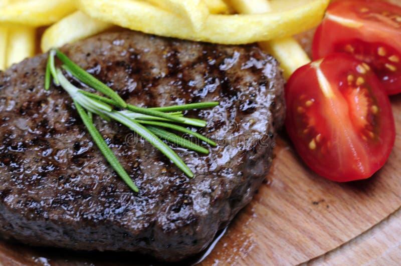 Lapje vlees en spaanders royalty-vrije stock foto