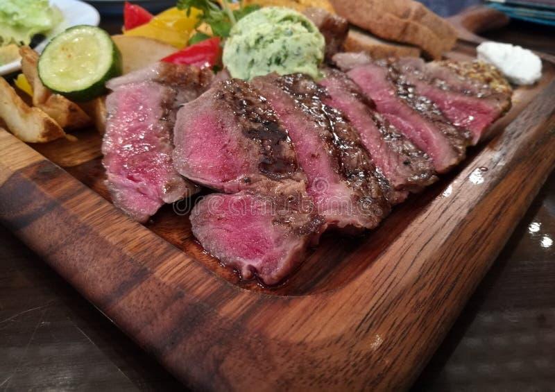 Lapje vlees van het matsusaka Japanse rundvlees van Kobe van de premie het legendarische hoogste rang royalty-vrije stock foto's