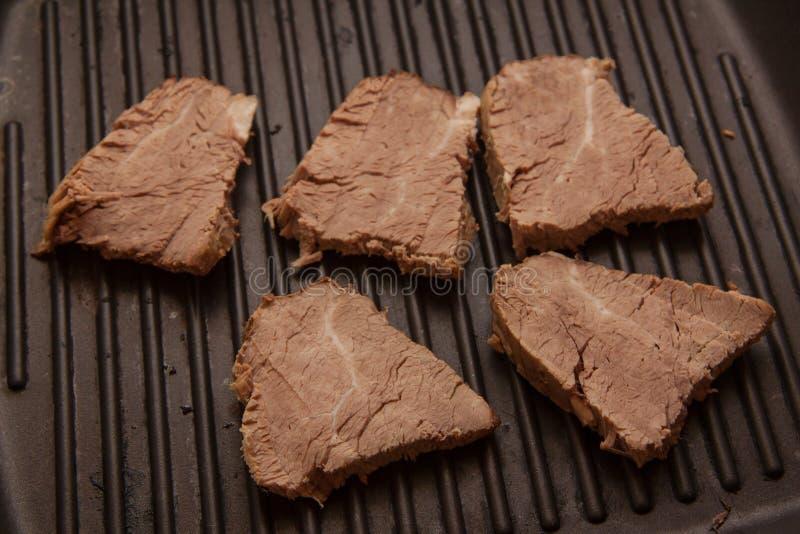 Lapjes vlees van kalfsvlees royalty-vrije stock afbeelding