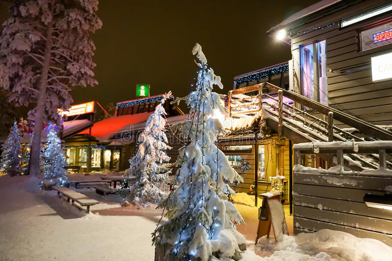 Lapland. Christmas holidays in Lapland, Finland stock photo
