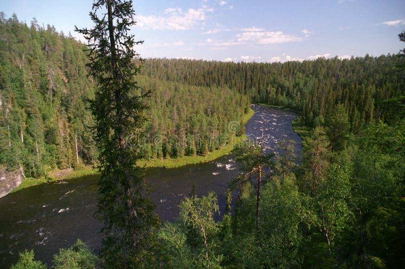 lapland flod royaltyfria foton