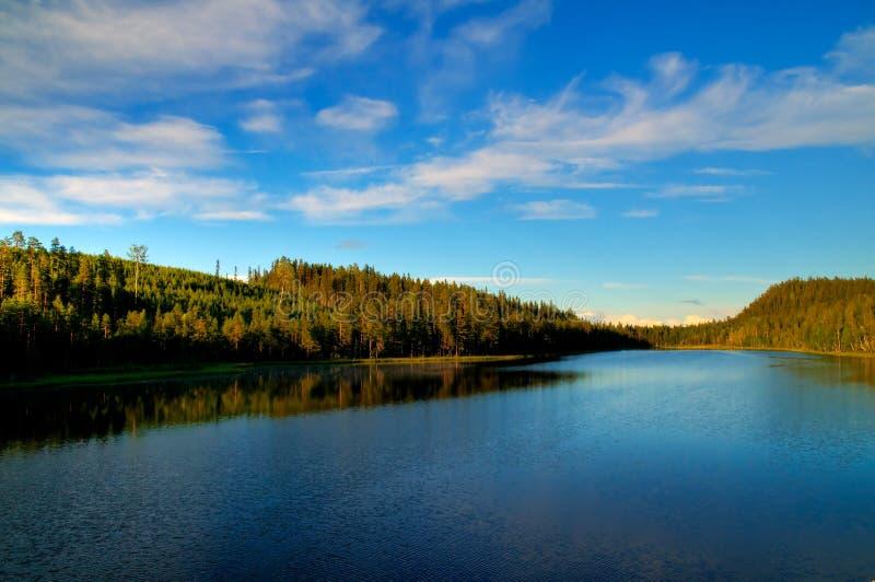 Lapland See stockbilder