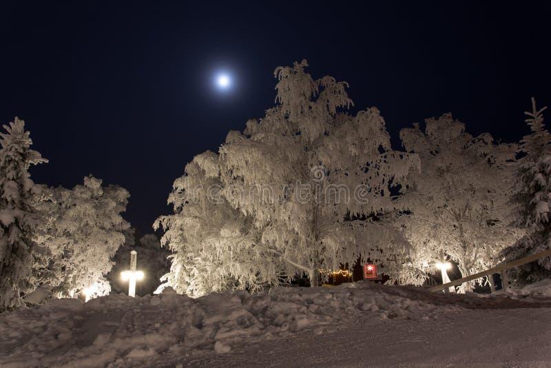 Lapland widok w zimie zdjęcia stock