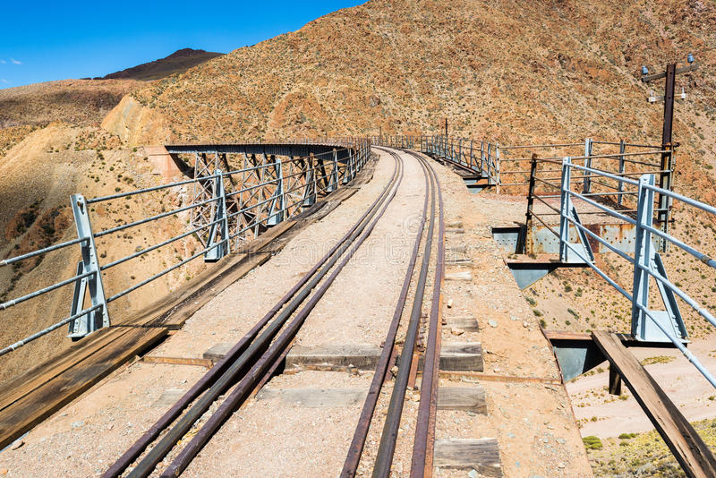 LaPolvorilla viadukt i Argentina arkivbild