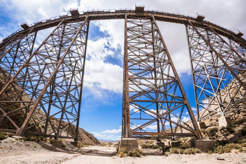 LaPolvorilla viadukt, Salta (Argentina) arkivbilder