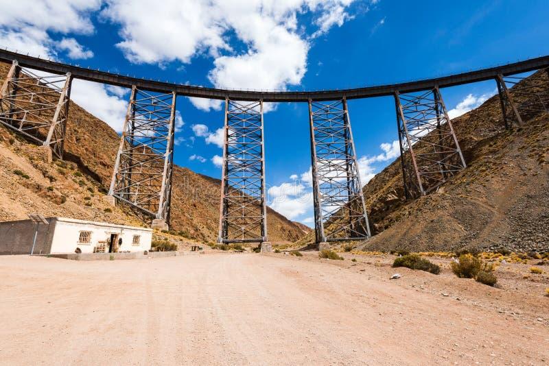 LaPolvorilla viadukt, Salta (Argentina) royaltyfria bilder