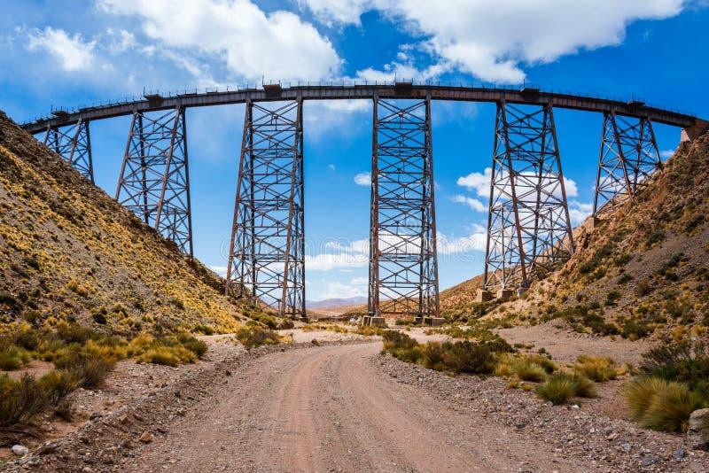 LaPolvorilla viadukt, Salta (Argentina) royaltyfria foton