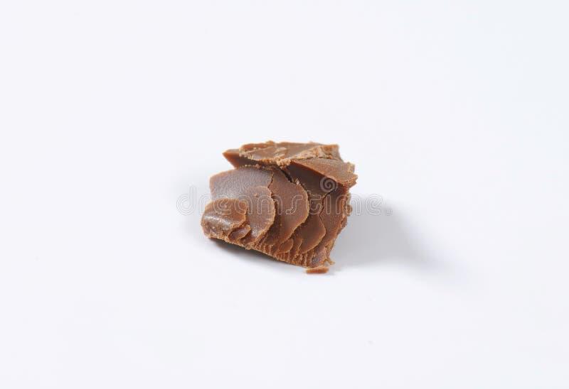 Lappa av choklad arkivbilder