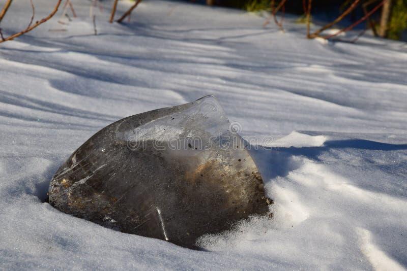 Lappa av is fotografering för bildbyråer