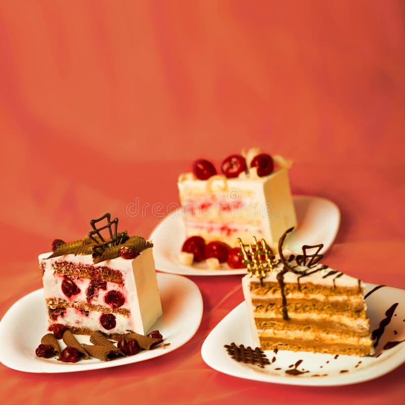 Lappa av tårtan arkivfoto