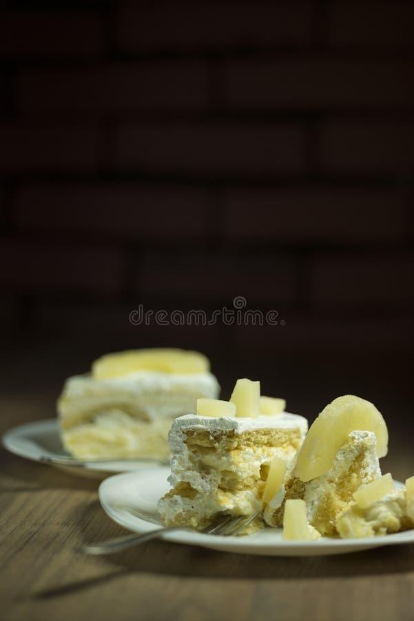 Lappa av tårtan arkivfoton