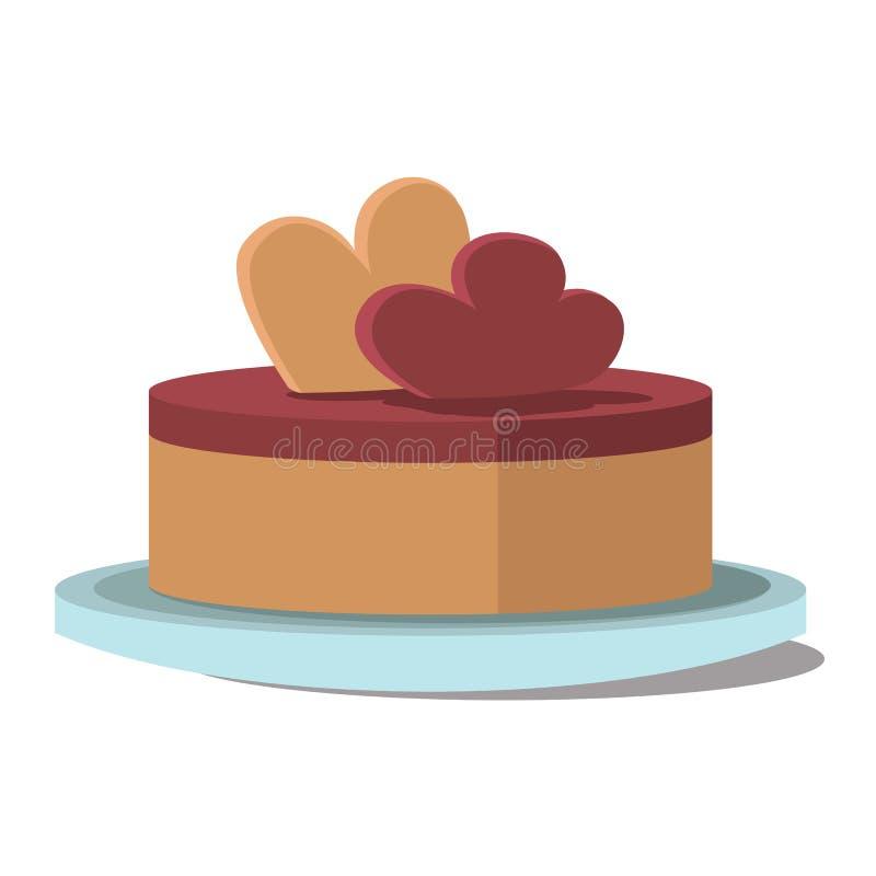 Lappa av tårtan Plan vektor royaltyfri illustrationer