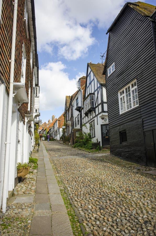 Lappad gata i råg, östliga Sussex fotografering för bildbyråer