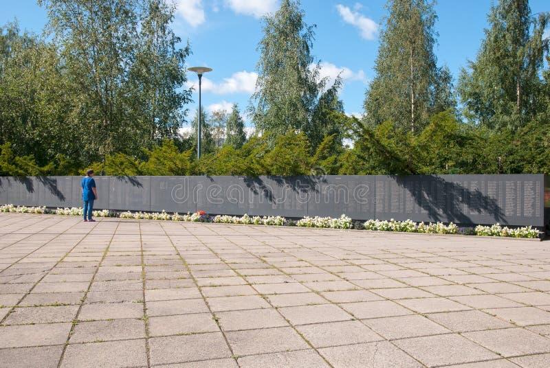Lappeenranta finland Cruz e montanhas imagem de stock