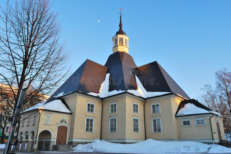 Lappeenranta, Finland. De Kerk van Lappee stock foto's