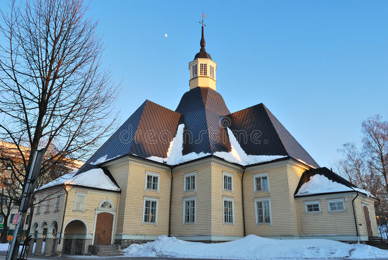 Lappeenranta, Finland. Lappee Church. In the light of the evening sun stock photos