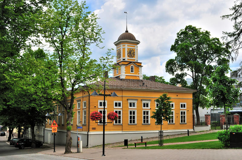 Lappeenranta, Finland. The Old Town Hall. Lappeenranta, Finland. The building of the Old Town Hall, 1899 royalty free stock photo