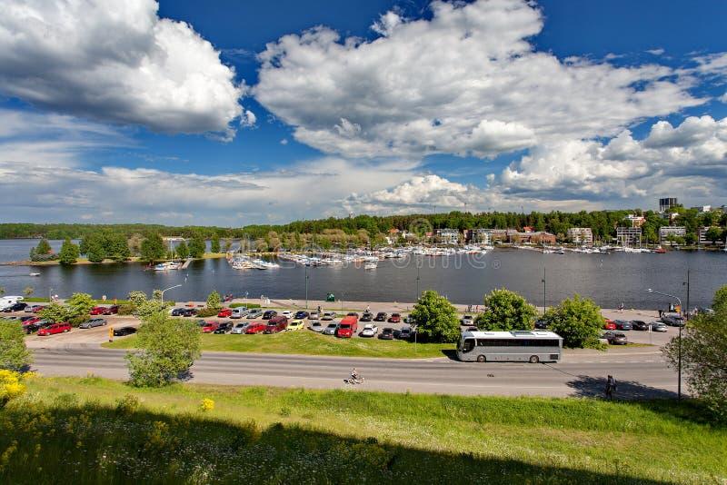 Lappeenranta, Finlandia - el centro de la ciudad, lago Saima imagen de archivo