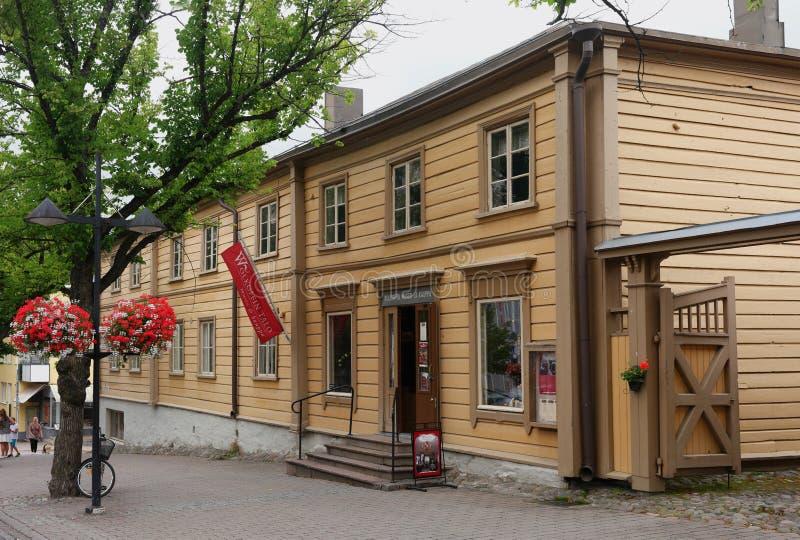 Lappeenranta, Finnland - 29. Juli 2016: Haus-Museum Wolkow-Kaufleute Wolkoffin-talomuseo - eins von den ältesten in der Stadt stockfoto