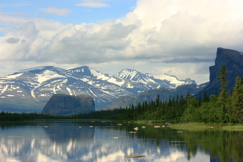 Lappland-Landschaft stockfotos