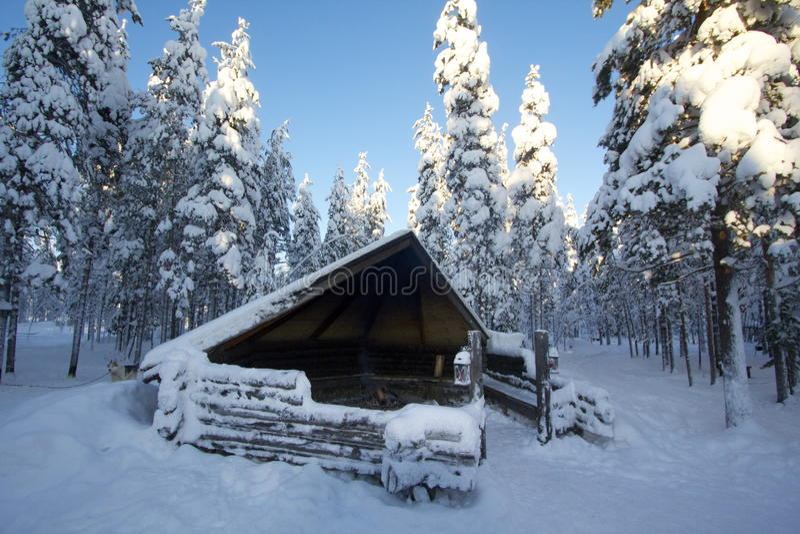 Lappland (Rovaniemi), Finnland stockfotos