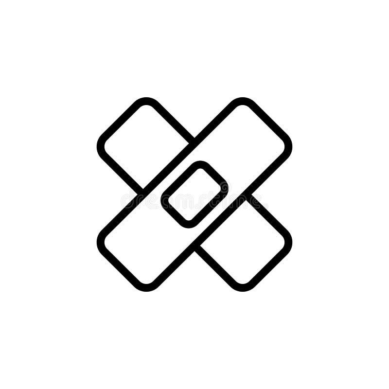 Lappsymbol Beståndsdel av minimalistic symboler för mobila begrepps- och rengöringsdukapps Tunn linje symbol för websitedesignen  stock illustrationer